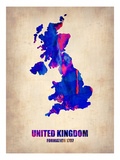 United Kingdom Watercolor Map Prints by  NaxArt