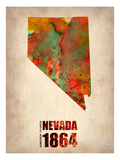 Nevada Watercolor Map Prints by  NaxArt
