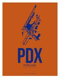 Pdx Portland Poster 1 Prints by  NaxArt