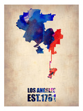 Los Angeles Watercolor Map 1 Prints by  NaxArt