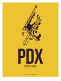 Pdx Portland Poster 3 Prints by  NaxArt