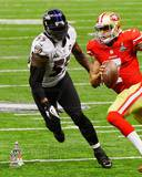 Terrell Suggs Super Bowl XLVII Action Photo