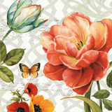 Floral Story III on Grey Prints by Lisa Audit