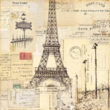 Paris Collage II Art by  Pela