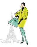 Colorful Fashion II - Paris Plakater af Anne Tavoletti