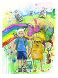 Adventure Time Reproduction procédé giclée par Lora Zombie