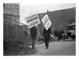 Union Pickets, ca. 1925 Giclee Print by Marvin Boland