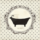 Cartouche Bath Print by Emily Adams
