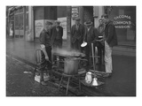Breakfast Outside the Tacoma Commons Mission, 1930 Giclee Print by Chapin Bowen