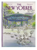 The New Yorker Cover - April 6, 1987 Regular Giclee Print by Eugène Mihaesco