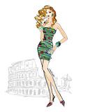 Colorful Fashion IV - Rome Kunstdrucke von Anne Tavoletti