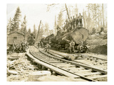 No. Camp, C.H. Clemons Logging Co, Melbourne, WA, 1918 Giclee Print by Clark Kinsey