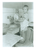 Washing Dishes (ca. 1930) Giclee Print by Chapin Bowen
