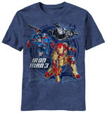 Youth: Iron Man 3 - Three Suits T-shirts