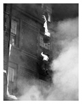 Hotel Fire Rescue, 1935 Giclee Print by J.R. Eyreman