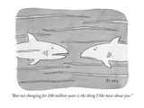 """""""But not changing for 100 million years is the thing I like most about you - Cartoon Regular Giclee Print by Peter C. Vey"""