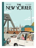 Summer Getaway - The New Yorker Cover, July 26, 2010 Regular Giclee Print by Adrian Tomine