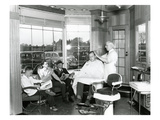 Lakewood Barber Shop, 1940 Giclee Print by Chapin Bowen