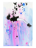 Out of Gravity Giclee Print by Lora Zombie