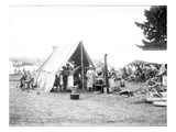 B.Co. Kitchen - National Guard of Washington, American Lake, 1906 Giclee Print by Ashael Curtis