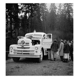 Lacey Fire Department Truck, 1955 Giclee Print