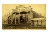 Post Office and General Store, Buckley, WA, 1889 Giclee Print by W.S. Walbridge