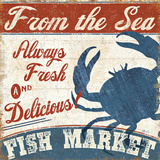 Fresh Seafood IV Prints by Pela Studio