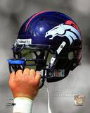 Denver Broncos Helmet Spotlight Photo