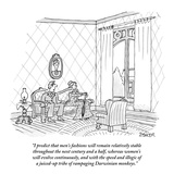 """I predict that men's fashions will remain relatively stable throughout th…"" - New Yorker Cartoon Premium Giclee Print by Jack Ziegler"