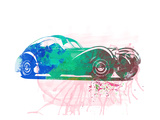 Bugatti Atlantic Watercolor 1 Print by  NaxArt