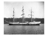 Three Masted Sailing Ship, Puget Sound (Undated) Giclee Print by Marvin Boland