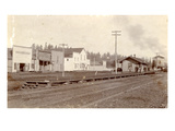 Roy, Pierce County, WA Northern Pacific Railway Station (ca. 1890) Premium Giclee Print by Arthur French
