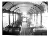 Interior of Seattle Renton and Southern Railway Passenger Car, 1909 Giclee Print by Ashael Curtis