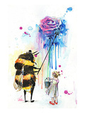 Mr Bumblebee Print by Lora Zombie