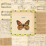 Hope Butterfly Art by Courtney Prahl