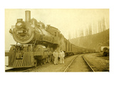 Northern Pacific Locomotive, Point Defiance, Tacoma, WA, ca. 1914 Giclee Print