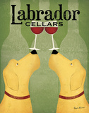 Two Labrador Wine Dogs Posters by Ryan Fowler