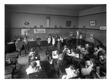 Students in Classroom, Seattle, 1909 Giclee Print by Ashael Curtis