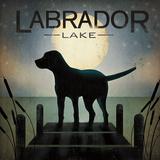 Ryan Fowler - Moonrise Black Dog - Labrador Lake - Art Print