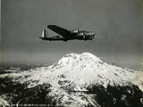 "B-17 ""Flying Fortess"" Bomber over Mt. Rainier, 1938 Giclee Print"