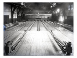 Bowling Alley, Madison Park, Seattle, 1909 Giclee Print by Ashael Curtis