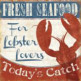Fresh Seafood I Print by  Pela