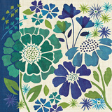 Blue Garden I Posters by Veronique Charron