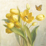 Yellow French Tulips Posters av Danhui Nai