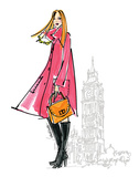 Colorful Fashion I - London Prints by Anne Tavoletti