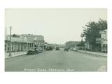 Street Scene Kennewick, Washington (ca. 1945) Giclee Print