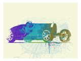 Bugatti Type 35 R Watercolor Prints by  NaxArt