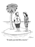 """It makes you look like a tourist."" - New Yorker Cartoon Premium Giclee Print by Joe Dator"