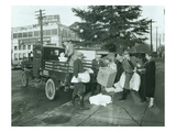 Elks Loading Charitable Provisions for Christmas, 1927 Giclee Print by Chapin Bowen