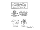 More new Monopoly game pieces - Cartoon Regular Giclee Print by Danny Shanahan